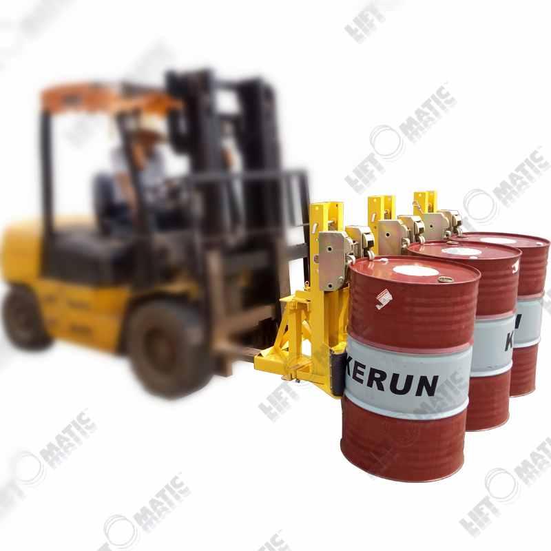 3DCM三桶重载型叉车用油桶专用桶夹